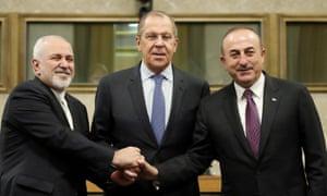 Javad Zarif, Sergei Lavrov and Mevlüt Çavuşoğlu