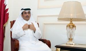 The Qatari foreign minister, Mohammed bin Abdulrahman al-Thani, in Doha on 8 June.