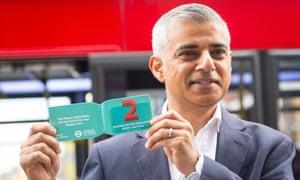 Sadiq Khan launches the new 'hopper' bus fare.