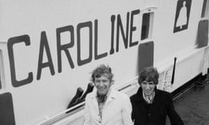 DJs Arrive<br>Disc jockeys Johnnie Walker and Robbie Dale of ship-based pirate radio station Radio Caroline arrive at Felixstowe after the station's closure after the British government passed the Marine Broadcasting Offences Act, 15th August 1967.  (Photo by Terry Disney/Daily Express/Hulton Archive/Getty Images)