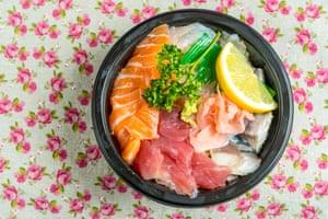A sashimi rice bowl.