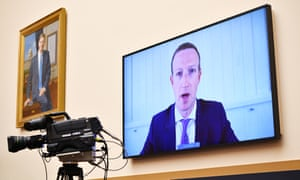 Facebook CEO Mark Zuckerberg testifies before the House Judiciary Subcommittee on Antitrust, Commercial and Administrative Law on Online Platforms and Market Power in Washington, DC.