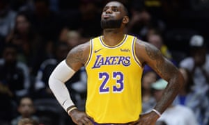 huge discount b7637 454d6 LeBron James reels off highlights during first game as an LA ...