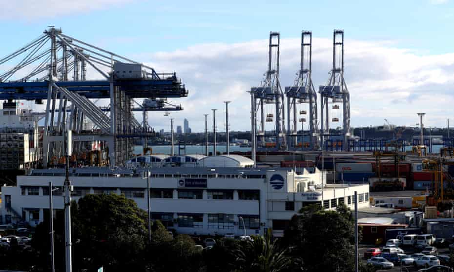 A general view of the Ports of Auckland