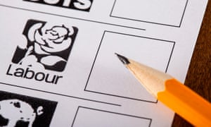 The Labour slot on a voter's ballot paper