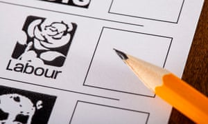 Labour logo and box on ballot paper from 2015