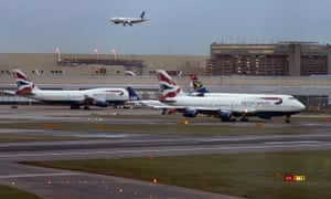 Planes at Heathrow airport in London.