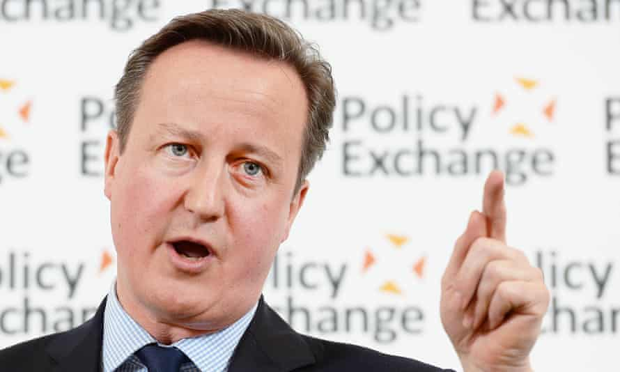 David Cameron delivering his speech on prison reform