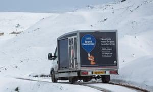 01650a9e61 A Tesco delivery van drives through the Brecon Beacons in Wales.