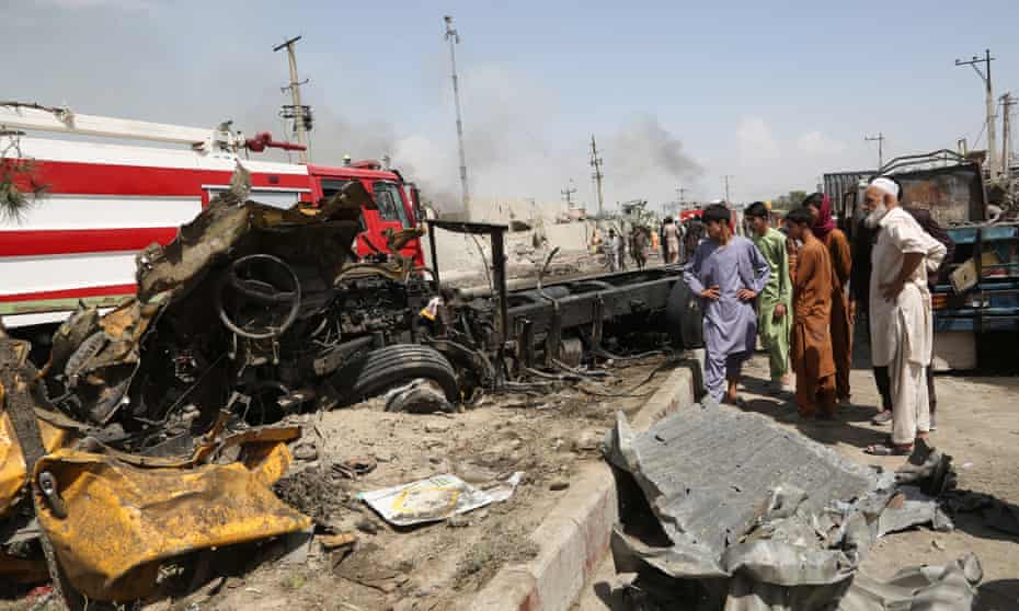 A bomb attack in Kabul on 3 September which killed 16 people.