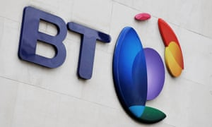 BT shares down in rising market