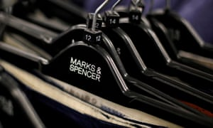 Marks & Spencers clothes on hangers