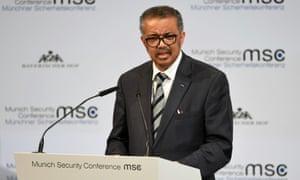 Tedros Adhanom Ghebreyesus, the director general of the World Health Organization