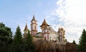 A fairy tale palace at the park.