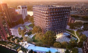 An artist's impression of luxury development  in London's Nine Elms
