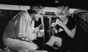 Jack Lemmon and Marilyn Monroe in Billy Wilder's Some Like It Hot (1959).