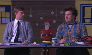 Martin Freeman (left) as Paul Maddens and Marc Wootton as Mr Poppy in the original film of Nativity!