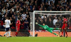 Tottenham's Kieran Trippier shoots at goal.