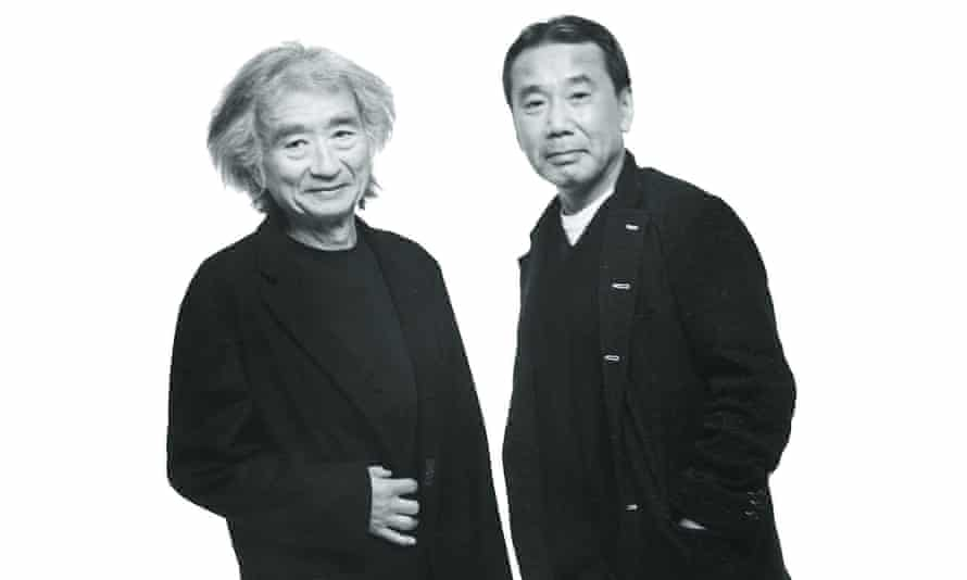 Seiji Ozawa, left, and Ozawa Murakami.