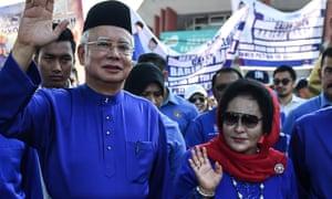 Najib Razak and his wife Rosmah Mansor.