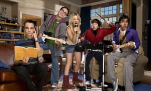 The Big Bang Theory's Johnny Galecki (second left) and Kaley Cuoco