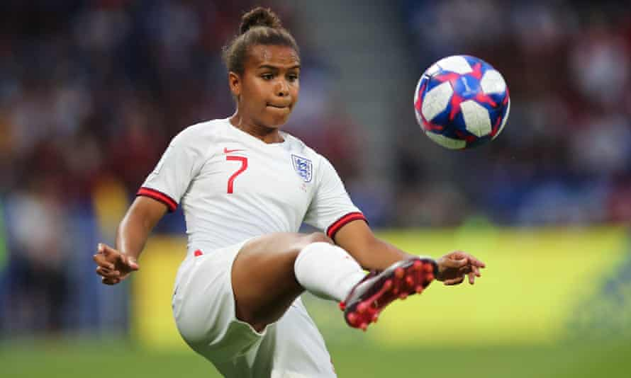 Nikita Parris at the 2019 World Cup in the first bespoke England kit for the women's team