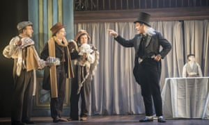 Aitor Basauri, Sophie Russell, Petra Massey and Toby Park in Spymonkey's A Christmas Carol.