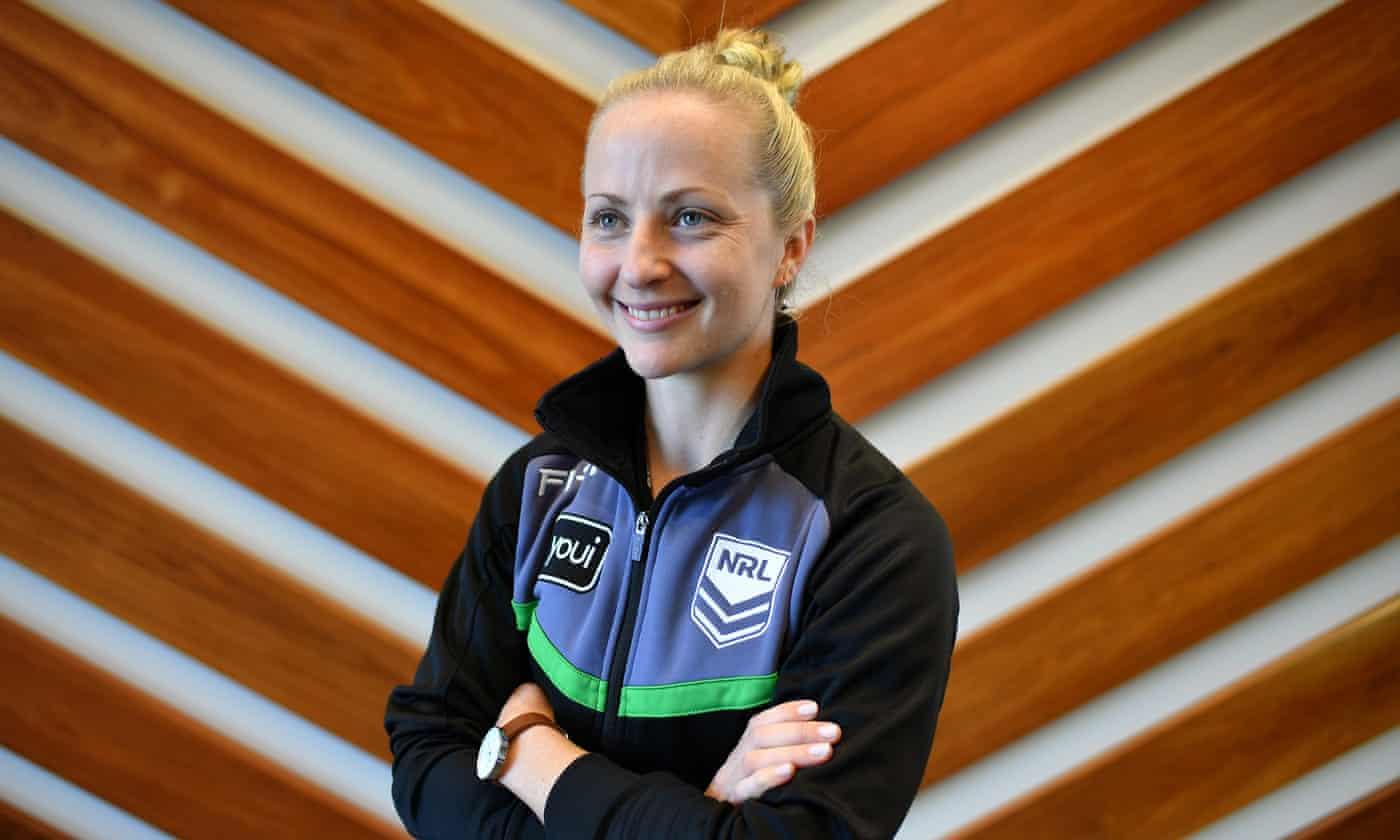 NRL's first female referee Belinda Sharpe hopes to inspire future generations