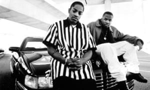Hip-hop duo OutKast circa 1990