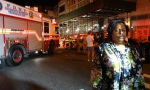 Witness Deborah Griffith at the scene of a blast in the Chelsea area of Manhattan on Saturday 17 September 2016.