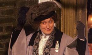 Meryl Streep plays Emmeline Pankhurst in the film Suffragette.