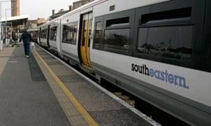 Southeastern train in London