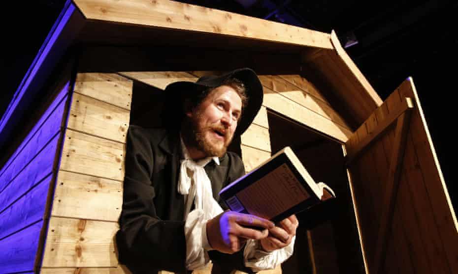 William's world … Gary McNair performs in McGonagall's Chronicles at Shedinburgh.