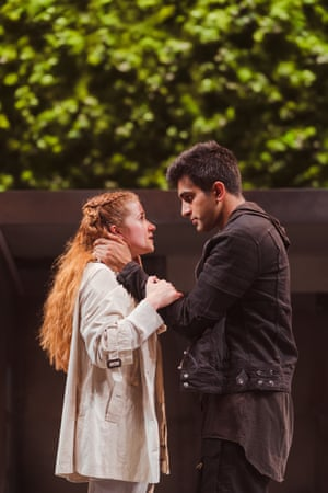 Karen Fishwick and Bally Gill at the Royal Shakespeare Theatre, Stratford-upon-Avon, in 2018.