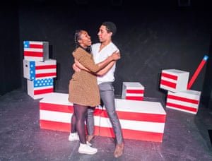 2017. Laurence Ubong-Williams and Yvette Boakye in Beautiful Eyes, part of the production Top Trumps at Theatre 503, London.