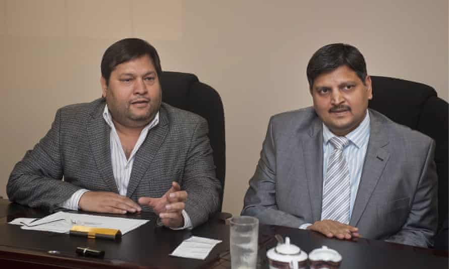 Ajay Gupta, left, and Atul Gupta are facing corruption investigations in South Africa over their links to the former president Jacob Zuma.