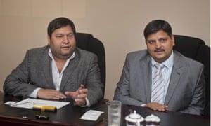 Ajay Gupta and younger brother Atul Gupta