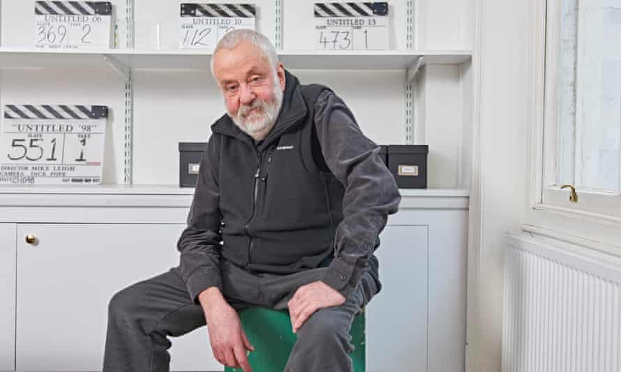Mike Leigh in his office in Soho.