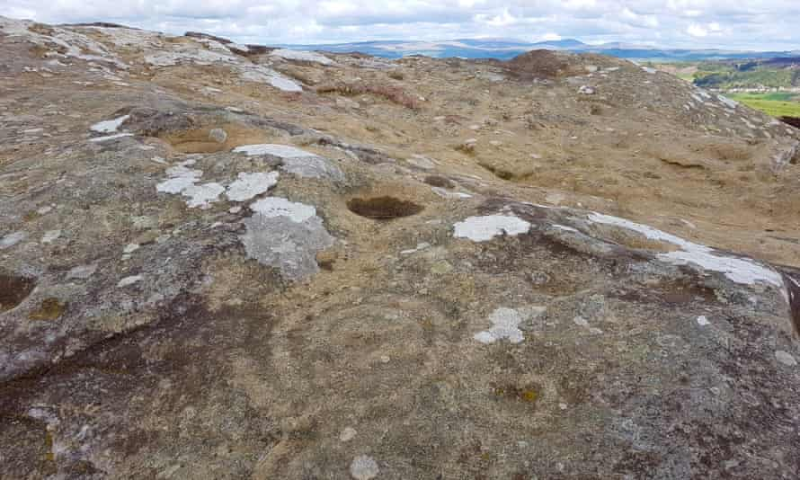 'Indefinable power and beauty' ... ring markings on Main Rock.