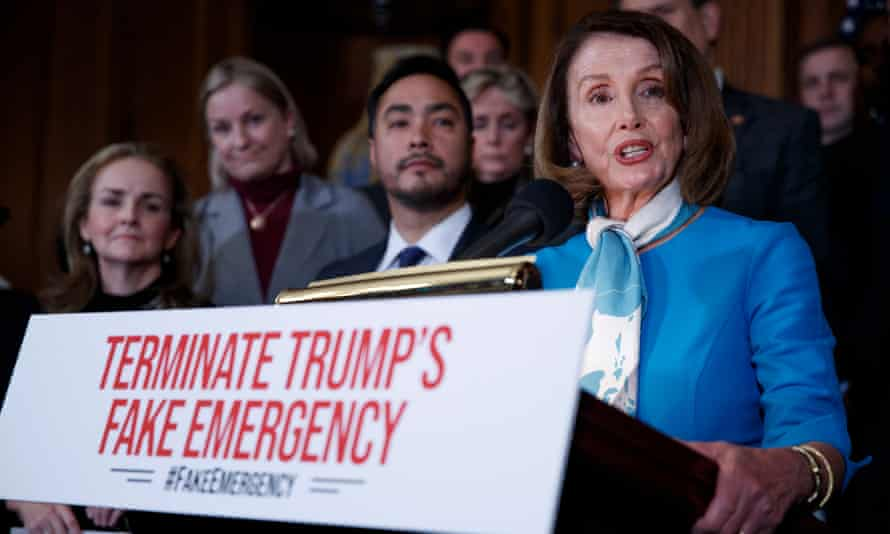 Democrats said Trump was trampling on the constitution by grabbing money that he can't obtain through normal means.