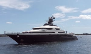 The luxury yacht Equanimity