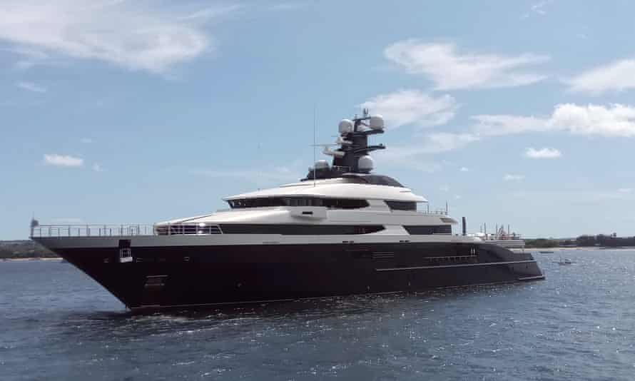 The luxury yacht Equanimity