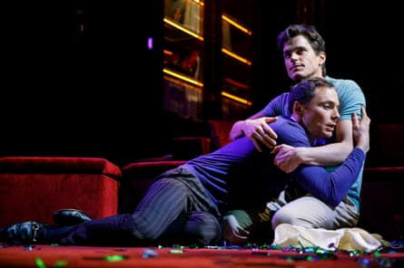 Bomer with Jim Parsons in The Boys in the Band.