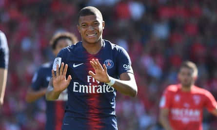 Kylian Mbappé will pick up plenty more red cards in Ligue 1 if he continues to lash out at opponents.
