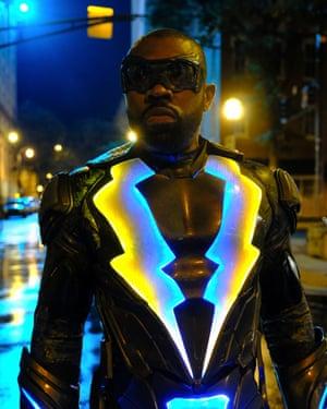 Cress Williams as Black Lightning on Netflix.