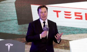 Elon Musk in January. The Tesla CEO's anti-lockdown cause has won the support of Donald Trump.