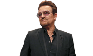 With or without you, Hillary: Bono aims high