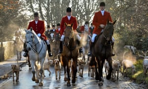 A hunt in Laycock, Wiltshire