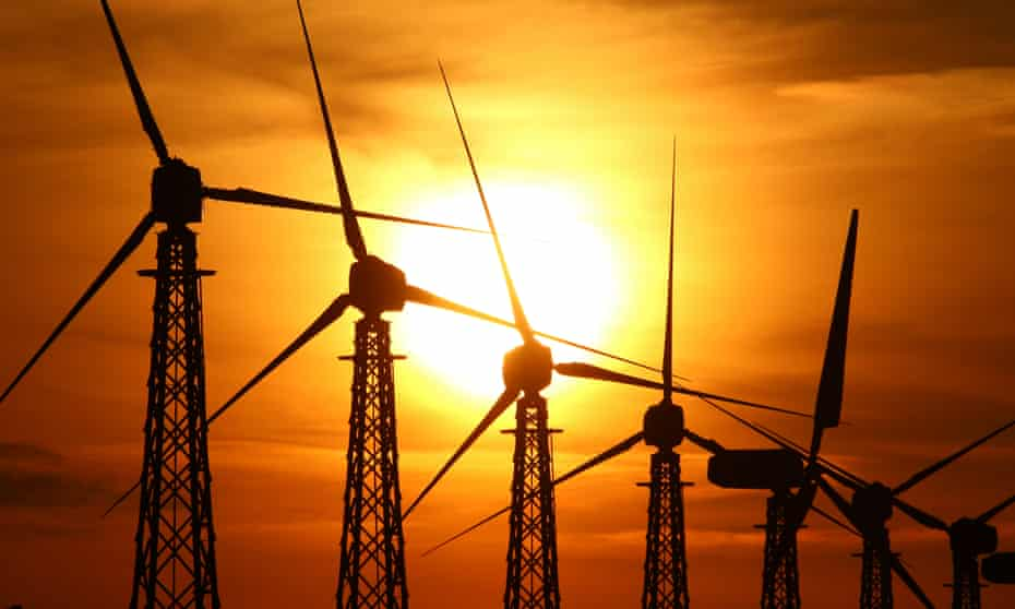 Constructing wind farms and solar plants could help put emissions into structural decline.
