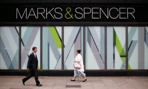 FILE PHOTO: File photo of pedestrians walking past a branch of Marks & Spencer in northwest LondonFILE PHOTO: Pedestrians walk past a branch of Marks & Spencer in northwest London, Britain July 8, 2014. REUTERS/Suzanne Plunkett/File Photo GLOBAL BUSINESS WEEK AHEAD